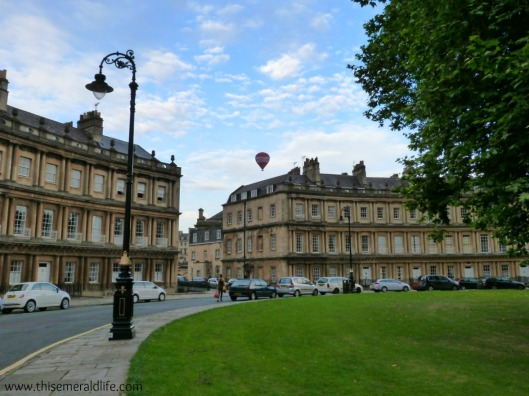 The Circus, Bath.  Can you spot the hot air balloon?