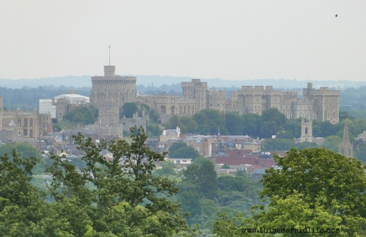 Windsor Castle in the distance from Legoland